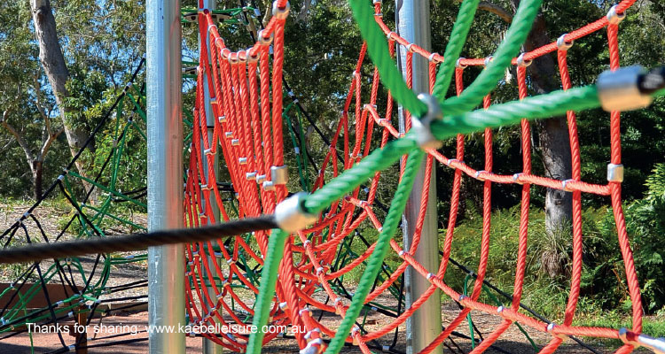 Colored ropes for play
